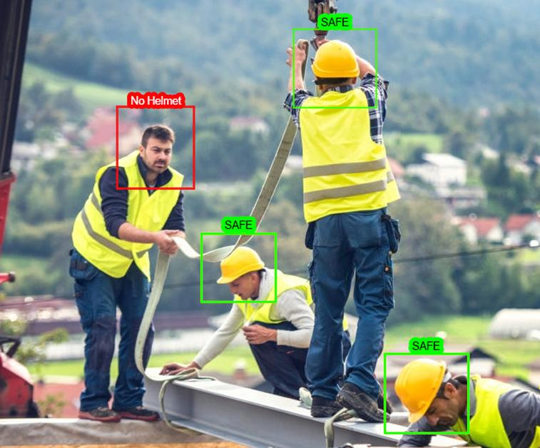 Workers safety things detection